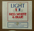 VINTAGE AMERICAN BEER LABEL - PABST BREWERY, RED, WHITE & BLUE LIGHT 12 FL OZ