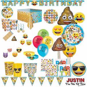 Emoji Emoticon Boys Girls Birthday Party Tableware Supplies & Decorations
