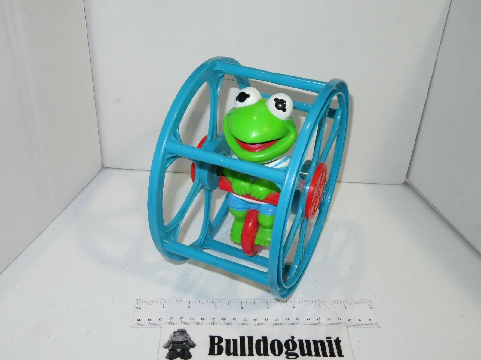1989 Kermit the Frog Muppet Babies Remco Baby Toy Wheel Jim Henson Baby