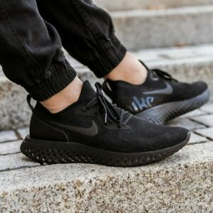 Nike Epic React Flyknit Running Shoes Triple Black AQ0067-003 Men/'s NEW