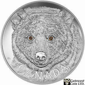 2016-Kilo-039-In-The-Eyes-of-the-Spirit-Bear-039-250-Silver-Coin-9999-Fine-17572