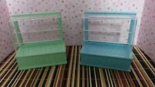 Dollhouse Miniature Food and Bakery Cabinets Set of 2