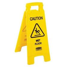 Wet Floor Sign 2 Sided English Stand 11 X 25 Yellow 1