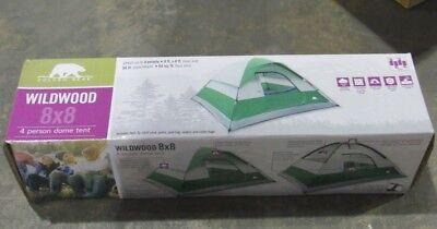 Golden Bear 4 Person 8' X 8' Dome Tan and Green Tent NIB | eBay