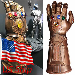 Avengers 4 Infinity War Infinity Gauntlet Thanos Gloves Cosplay Props