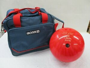 Red-Lite-Dot-by-Columbia-12-lb-Bowling-Ball-Ebonite-Shoulder-Carry-Case-Bag-AL