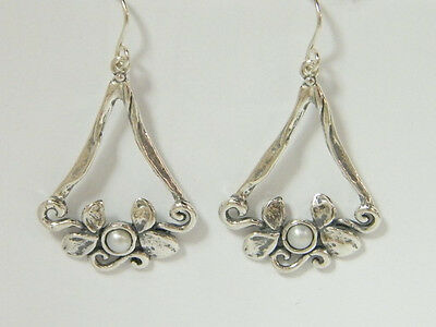 E02091SP SHABLOOL ISRAEL Didae Handcrafted FW Pearl Sterling Silver 925 Earrings