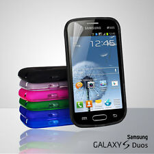 6 Colour Premium Jelly Case Cover for Samsung Galaxy S Duos / S7562 + Screen Gd