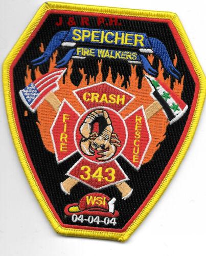 "Iraq Speicher  C.F.R 4.25/"" x 4.75/"" size /""Fire Walker/"" fire patch"