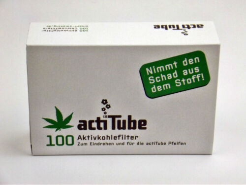 actiTube Aktivkohle Filter  8mm 100 Stück acti Tube Tune