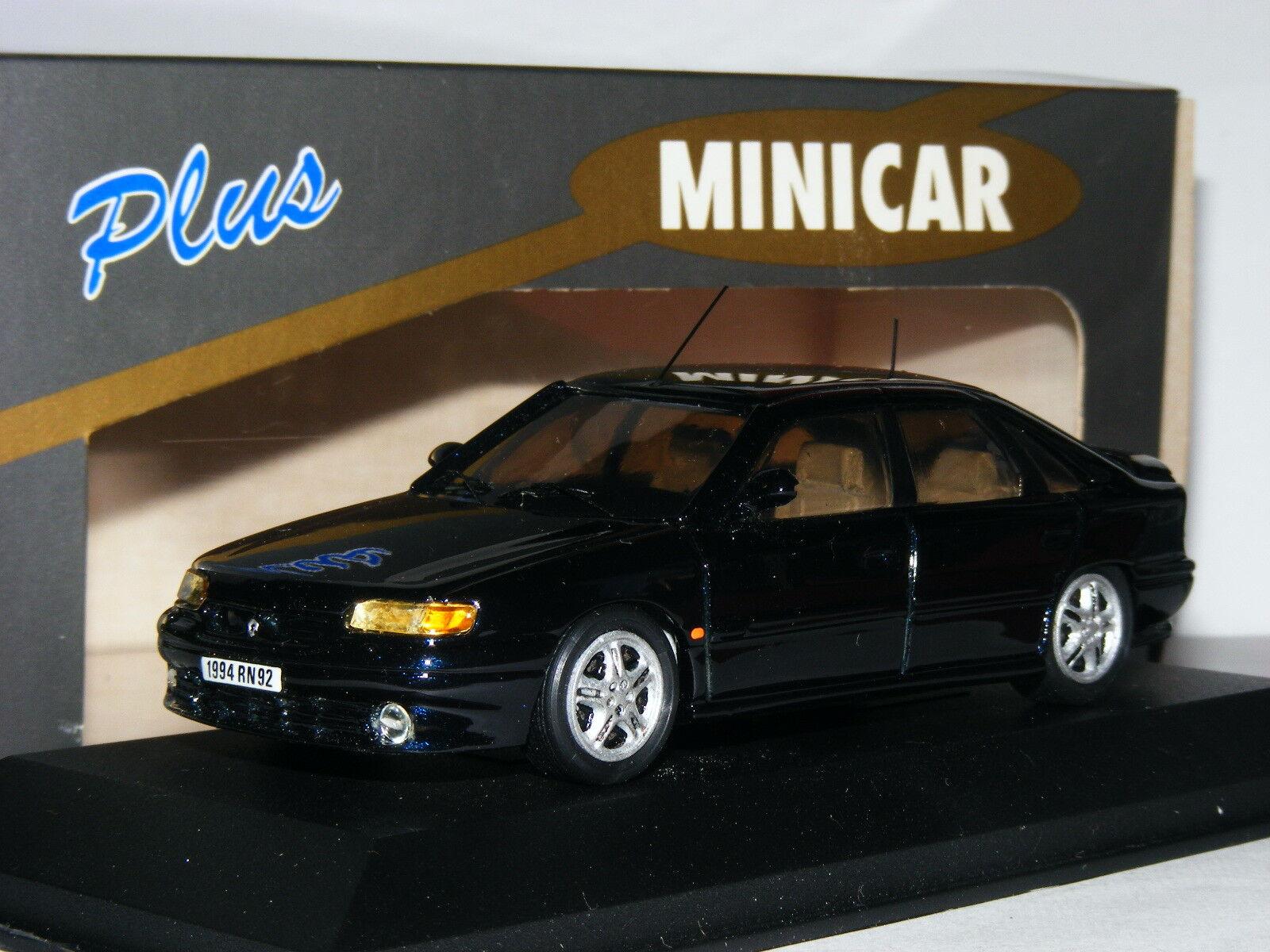 Minicar Plus 00.014 1994 Renault Safrane Baccara Biturbo Metallic bluee 1 43