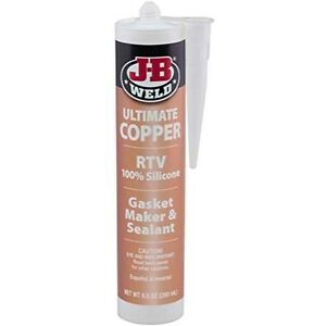 J-B Weld 32925 Ultimate Copper High Temperature RTV Silicone Gasket Maker and Se