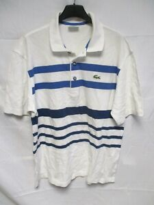 Polo-LACOSTE-DEVANLAY-blanc-bleu-made-in-France-manches-courtes-taille-5