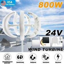24v Charge Controller Winit 800w Max Power 5 Blades Wind Turbines Generator Dc