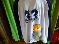 T XXL  les simpson ,bleu gris= tee-shirt mixte