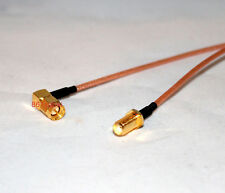 "12"" SMA Male RIGHT angle to SMA Female with nut pigtail RG316 cable 12'' 30cm"