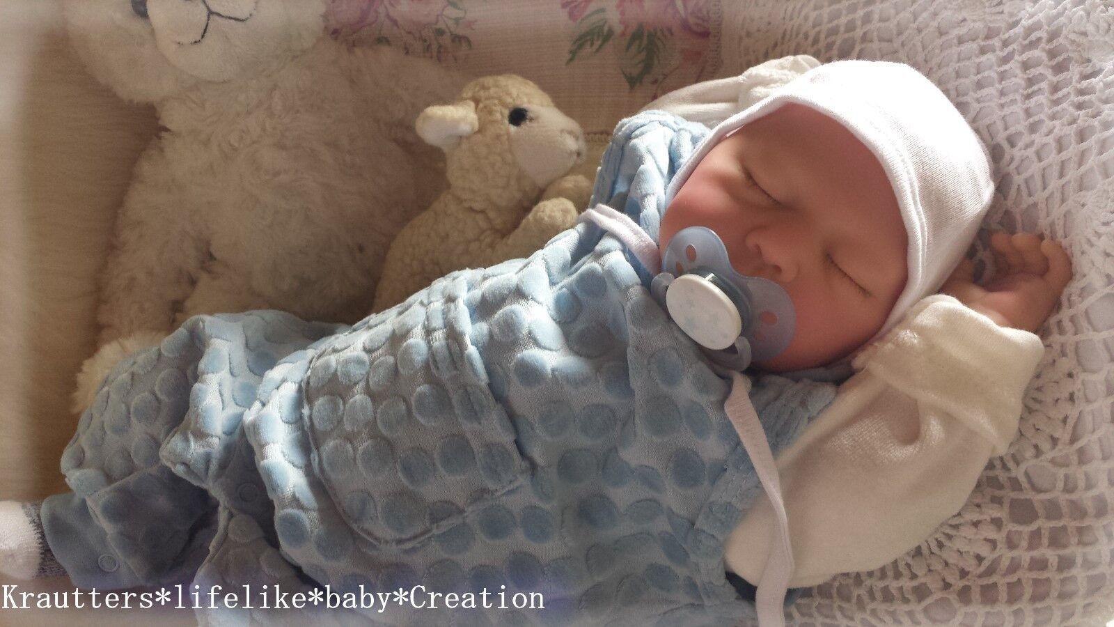 ️BabyBoy ️Reborn Reallife Baby Boy BS von U.L Krautter Babypuppe Doll♥✨