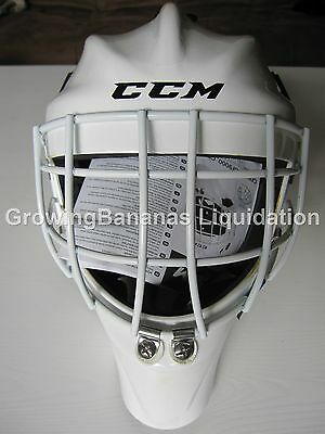 JR SR Helmet CCM 7000 Ice Hockey Goalie Mask Roller Inline New Black White
