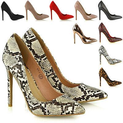 womens high heel stiletto pointed essex glam ladies party