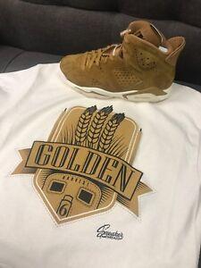 2ccb0972f392 Image is loading Shirt-Match-Jordan-6-Wheat-Golden-Harvest-13-
