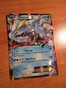 NM Pokemon KYUREM EX Card PLASMA BLAST Set 30/101 Black and White BW Ultra Rare