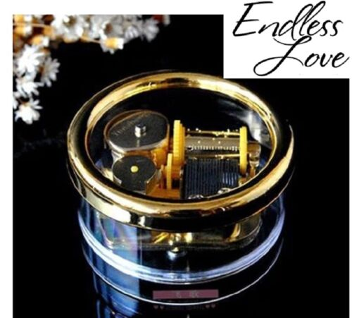 Endless Love Gorgerous Circle in Gold Wind Up Music Box