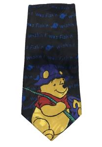 WINNIE-THE-POOH-Disney-Mens-Polyester-Tie-wish-039-n-I-was-Fish-039-n-Length-157-cm