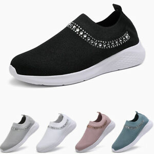 Women-039-s-Slip-on-Sneakers-Outdoor-Walking-Sports-Running-Shoes-Athletic-Jogging