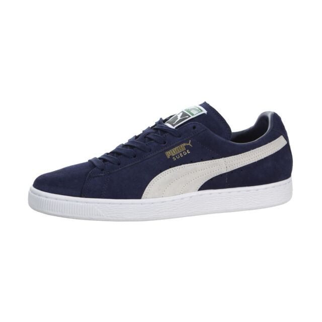 competitive price 464a8 3f2b8 PUMA Suede Classic Mens 356568-51 Peacoat Blue White Athletic Shoes ...