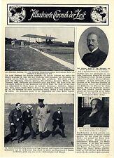 Vom Wettkampf der deutschen Luftschiffer Otto Erik Lindpaintner Doppeldecker1911