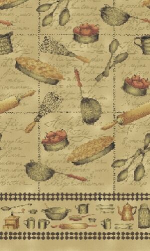 50cm x 110cm Half Meter An Apple a Day Apple Pie Cotton Quilting Fabric