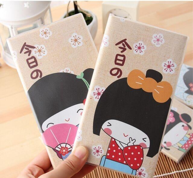 """Kimono Girl"" 1pc Mini Diary Pocket Cute Notebook Journal Planner Korean Gift"