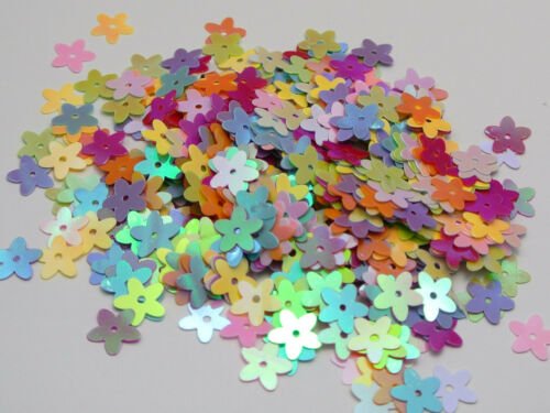 2000 Mixed Color AB 10mm Flowers Loose sequins Paillettes Sewing Wedding Craft
