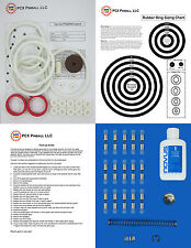 1974 Gottlieb Top Card Pinball Machine Tune-up Kit - Includes Rubber Ring Kit