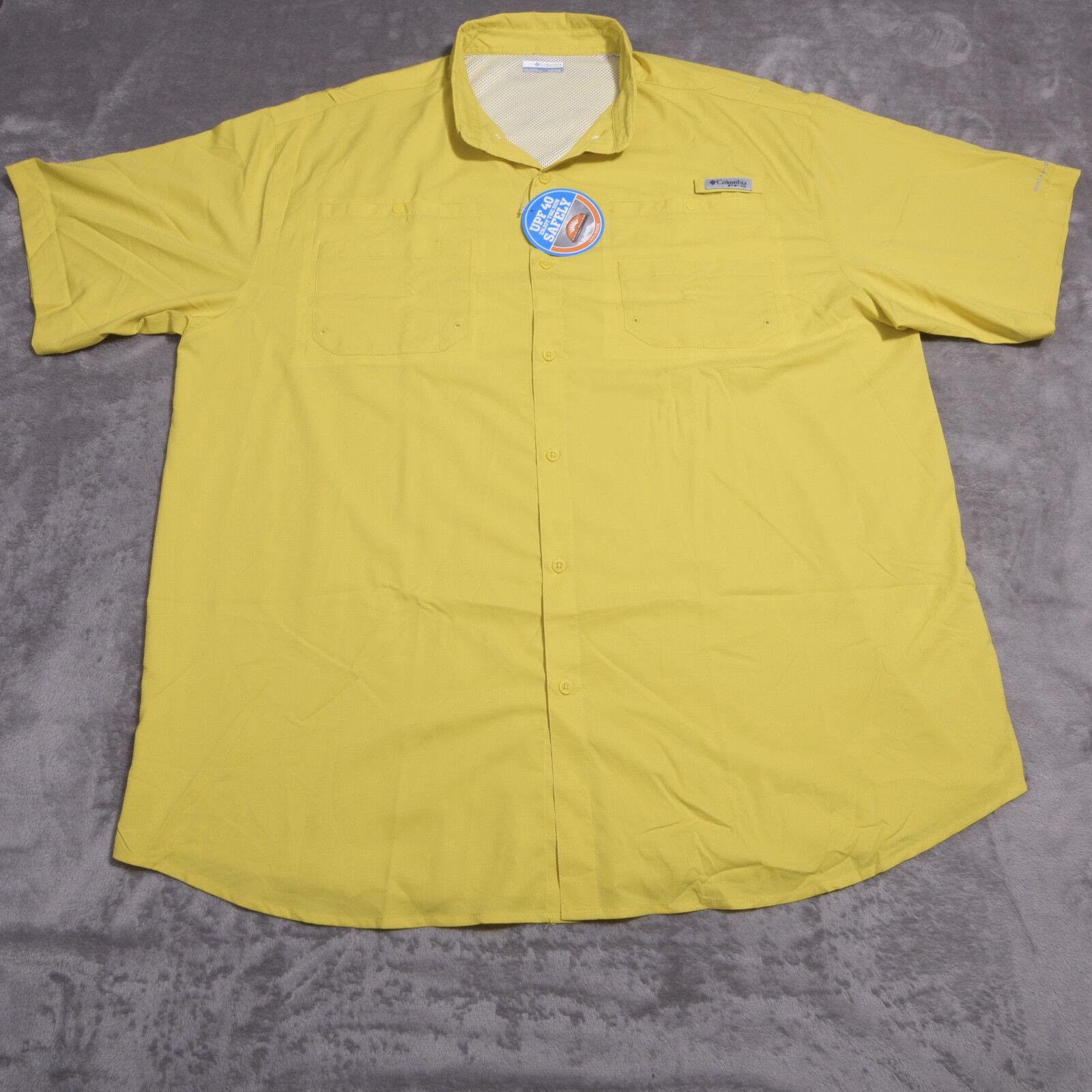 COLUMBIA Tamiami II SS  Mens Button Up SHIRT PFG SZ 3XT UPF 40  NWT NEW
