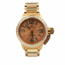 TW Steel Canteen Rose Sunray Dial Gold Plated Quartz Mens Watch TW305