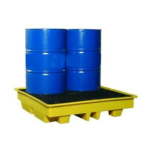 4 Drum Poly Bund Pallet *Low Profile - NEW - FREE DELIVERY - FLB0006