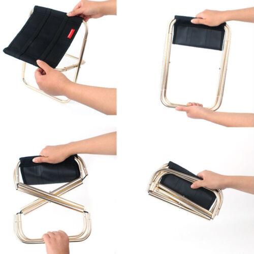 Portable Folding Chair Outdoor Camping Fishing Picnic Beach BBQ Stools Mini HFUK