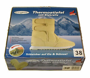Walkmaxx-ICE-Beige-Thermostiefel-mit-Eiskralle-in-Groesse-40-Winterstiefel-NEU