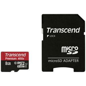Transcend-Micro-SDHC-Premium-400x-8GB-Adapter-Class-10-UHS-I-8-GB-TS8GUSDU1