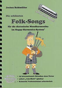 Die schönsten Weihnachtslieder Bluesharp Mundharmonika-Spielheft OHNE Noten