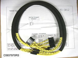 1949 pontiac wiring harness 1949 gmc 6 volt wiring harness 1949 1952 pontiac headlamp harness pair, c5937970rs | ebay