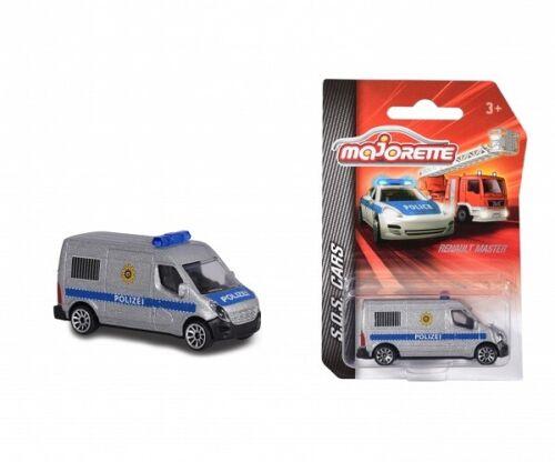 Majorette 212057181Q06 S.O.S Renault Master Cars Neu Polizei