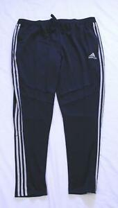 adidas-Men-039-s-Tiro-19-Training-Pants-MC7-Black-Reflective-Silver-DZ8771-Size-2XL