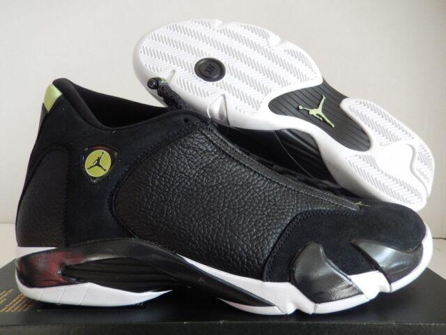 3f3ae3d9ffeb Nike Air Jordan XIV 14 Indiglo Black White Vivid Green Sz 7.5 487471 ...