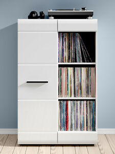Details About White Gloss Door Cabinet Narrow Sideboard Display Unit Bookcase Black Fever New
