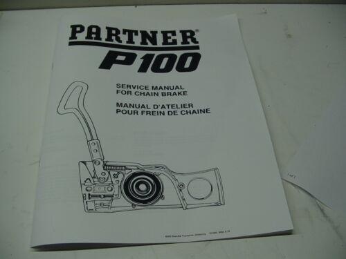 --- PARTNER P100 SERVICE REPAIR MANUAL WITH CHAIN BRAKE BOX1761