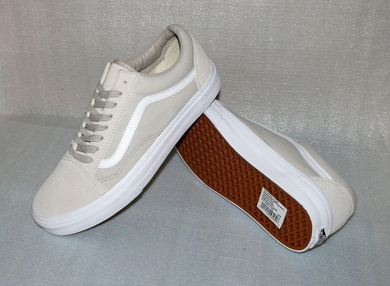 Vans OLD SKOOL Rau Leder Herren Schuhe Freizeit Turnschuhe 42 US9 IC185 Natur Weiß    | Die Farbe ist sehr auffällig