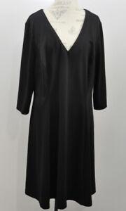 Lane-Bryant-Black-V-neck-3-4-Sleeve-Midi-Dress-size-22-24-Women-039-s-Plus-Size