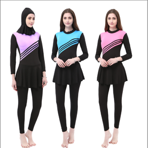 Muslim-Women-Swimwear-Swimsuit-Hijab-Modest-Islamic-Swim-Maillot-Burkini-Costume
